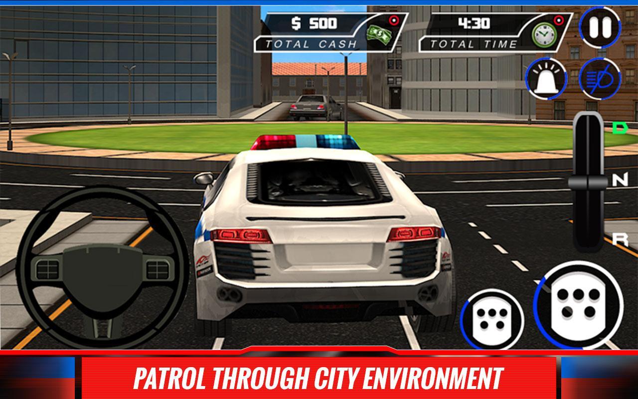 city police car driver sim 3d screenshot