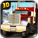 Heavy duty trucks simulator 3D icon