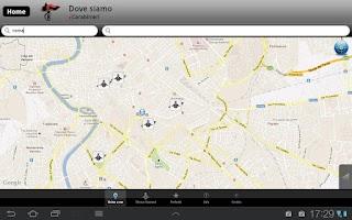 Screenshot of iCarabinieri