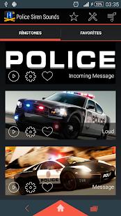 Policejní sirény vyzvánění - náhled
