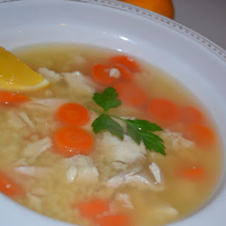 Roasted Chicken Pastina Soup with Meyer Lemon