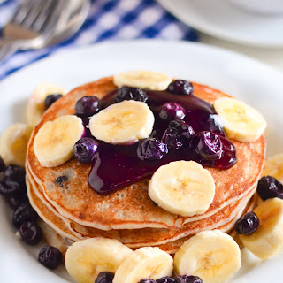 Blueberry Banana Pancakes.
