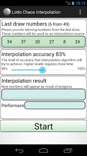 Lotto Chaos Interpolation