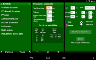 Screenshot of EchoCalc