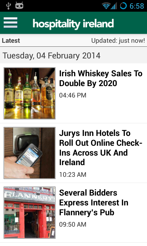 Hospitality Ireland- screenshot