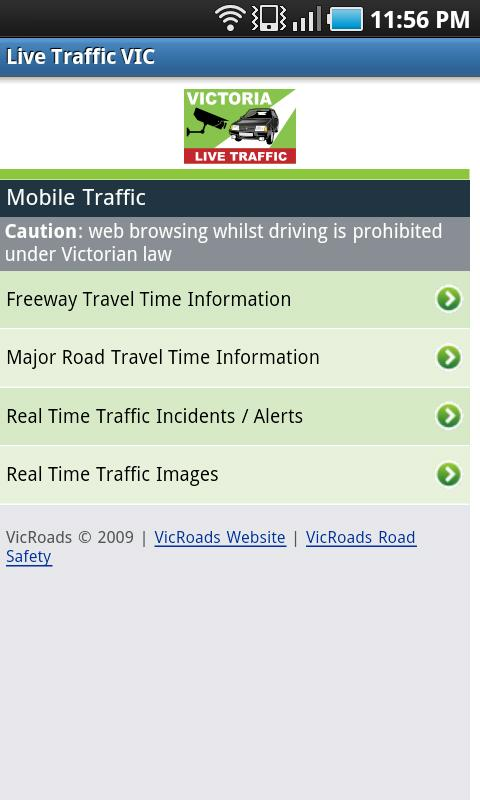 VIC Traffic View - screenshot