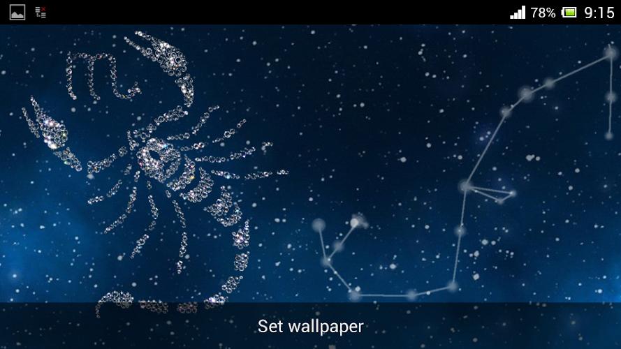 Zodiac Scorpio Live Wallpaper Android App Screenshot