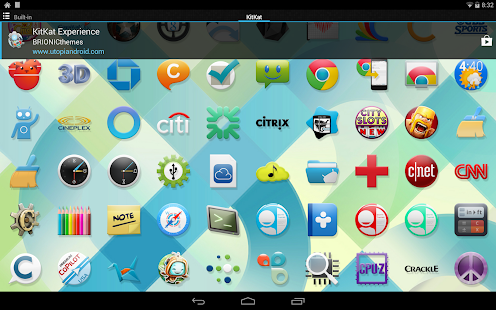 KitKat 4.4 Launcher Theme - screenshot thumbnail