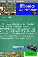 Screenshot of iEbonics & Slang Dictionary