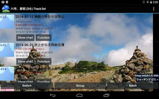 Screenshot of Mountain trip logger