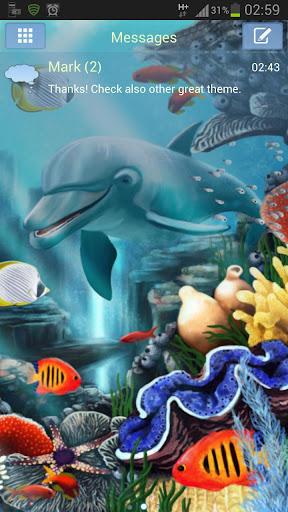 GO短信加强版主題水的魚