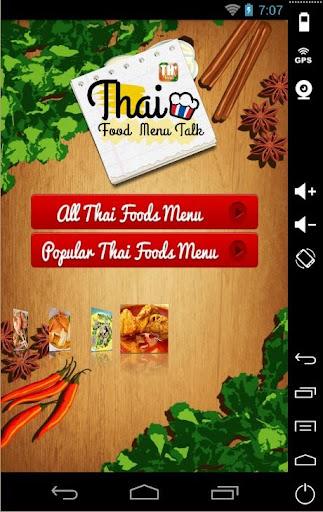 Thailand Foods Menu Talk
