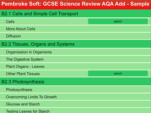 Sample AQA Add. Science Review