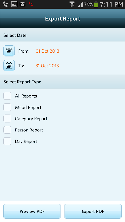 Moodlytics, Smart Mood Tracker - screenshot