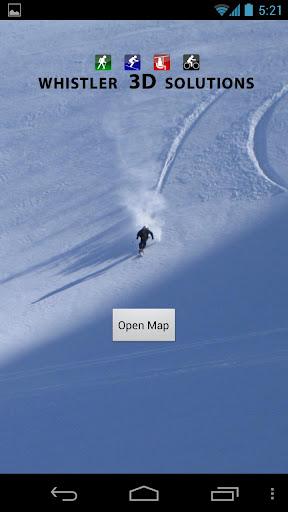 3D Whistler Trail Map