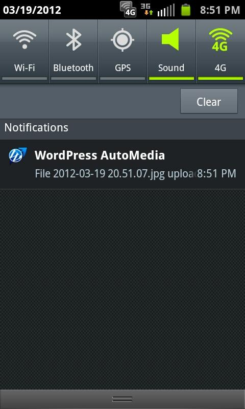 WordPress AutoMedia - screenshot