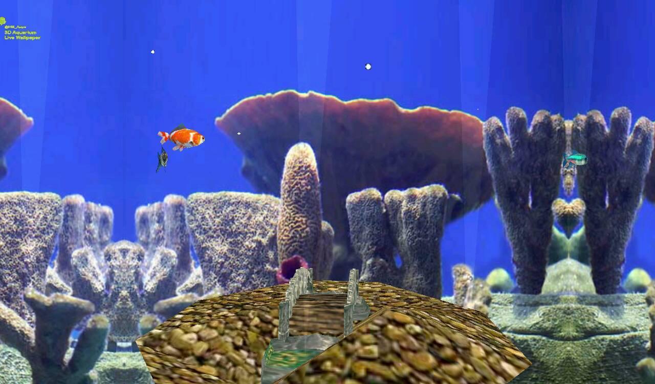 3d aquarium live wallpaper apps para android no google play for Live fish aquarium