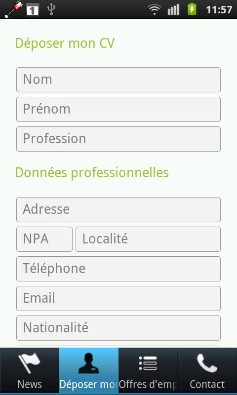 RG Emplois- screenshot