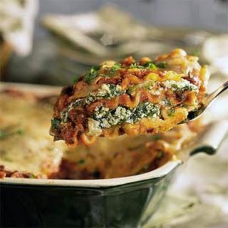 Spinach-Black Bean Lasagna.