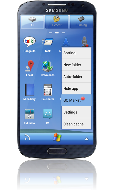 Windows XP GO Launcher Theme - screenshot