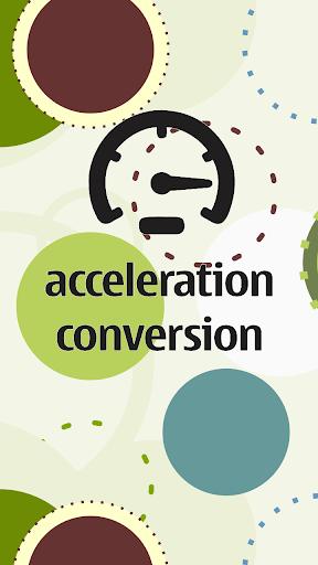 Acceleration Conversion