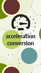 Acceleration Conversion Screenshot 1