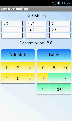 矩陣行列式計算器
