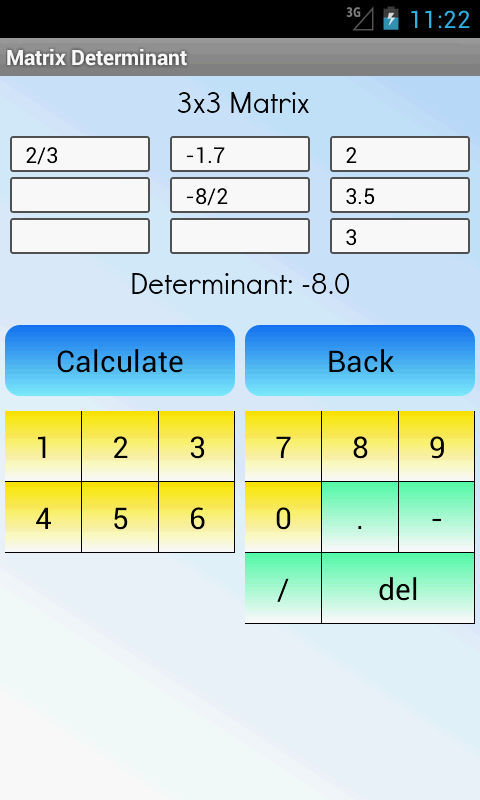 Matrix Determinant Calculator- screenshot