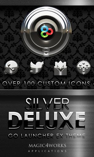 GO Launcher Theme Silver Delux