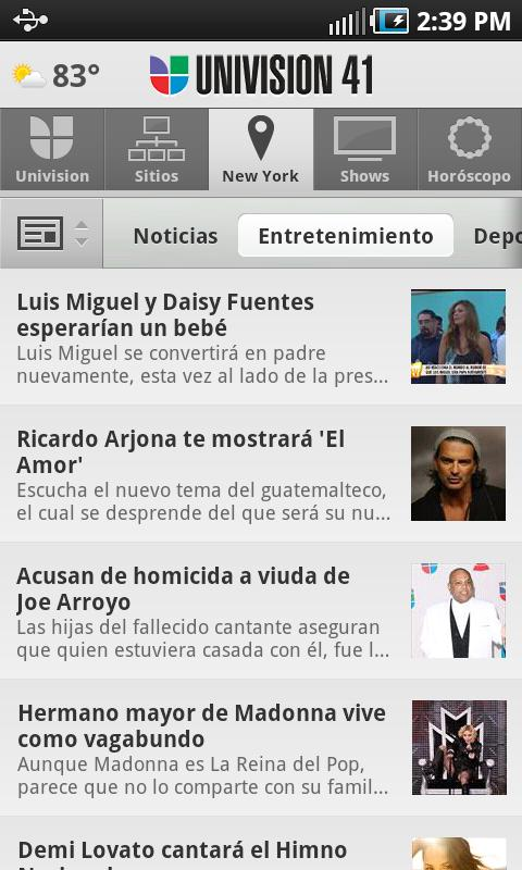 Univision - screenshot