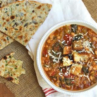 Smoky Kale, Tomato and Bean Soup.