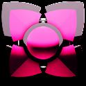 pink black 3D Next Launcher icon