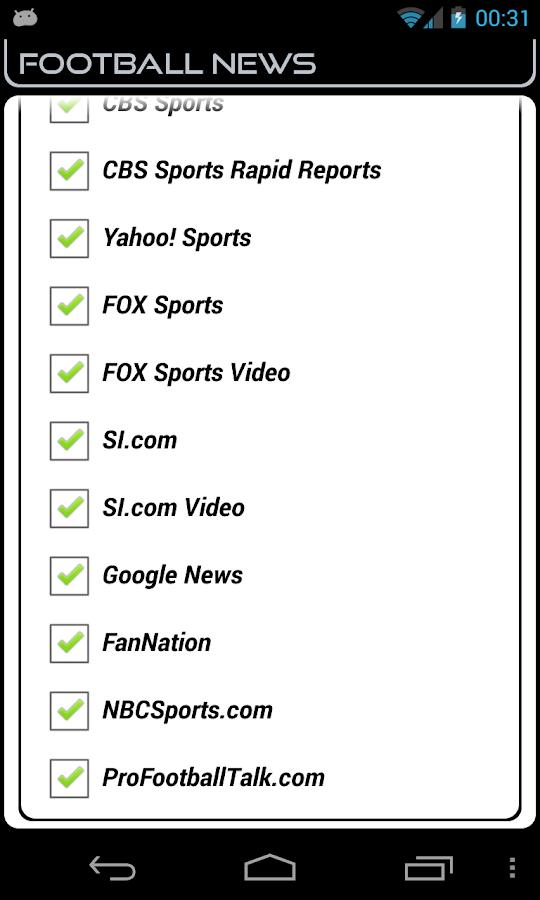 Oakland Football News- screenshot