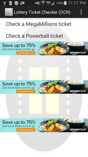 Lottery Ticket Checker OCR