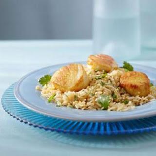 Curry Scallops & Cilantro Rice
