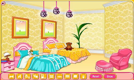 Girly room decoration game - náhled