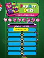 Screenshot of Famous Athletes PopArt Quiz