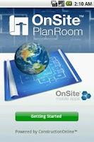 Screenshot of OnSite PlanRoom