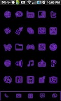 Screenshot of GloWorks Purple ADW Theme