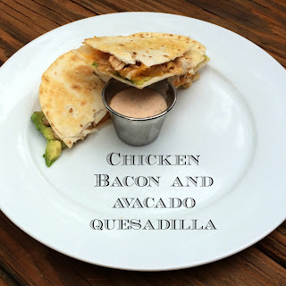 BBQ Chicken Quesadilla with Bacon and Avacado