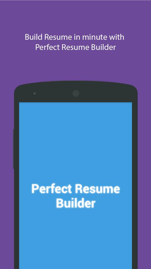 perfect resume builder screenshot - Perfect Resume Builder