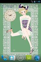 Screenshot of おしゃれでかわいい女の子ライブ壁紙1(時計)無料版