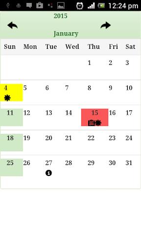 Sri Lanka Calendar 2015