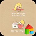 love is clock dodol theme icon