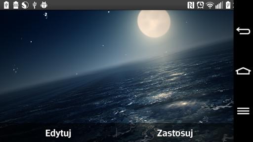 【免費個人化App】Ocean At Night Live Wallpaper-APP點子