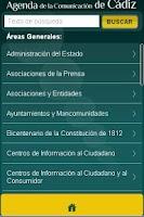 Screenshot of Agenda Comunicación de Cádiz