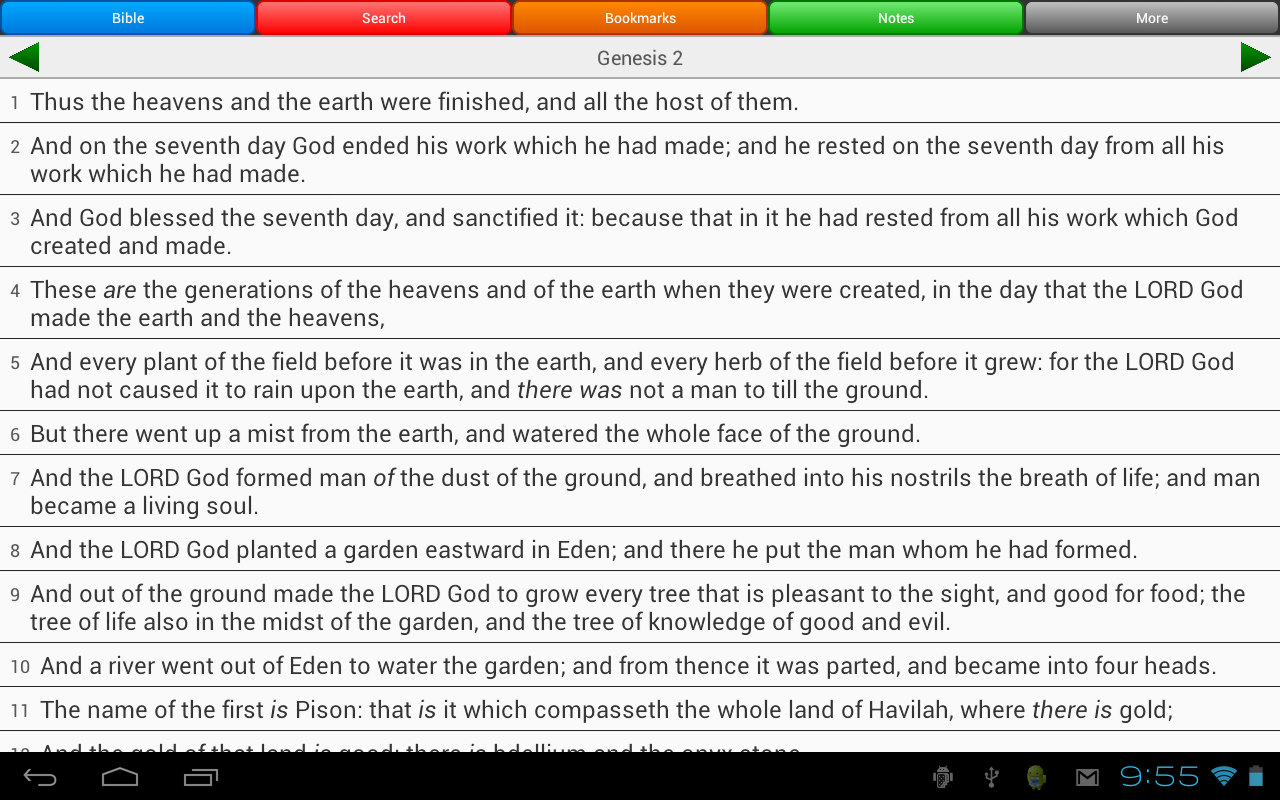 Holy Bible, King James Version- screenshot