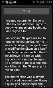 Autorun for Skype - screenshot thumbnail