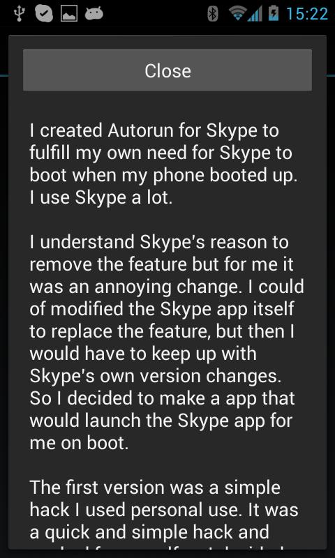 Autorun for Skype - screenshot