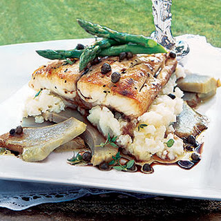 Sea Bream with Artichokes and Caper Dressing Recipe